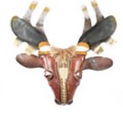 Footloose Moose Print by Michael Jude Russo
