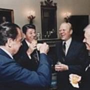 Four Presidents Nixon Reagan Ford Print by Everett