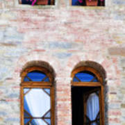 Four Windows Print by Marilyn Hunt