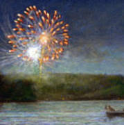 Fourth Of July- Cazenovia Lake Print by Wayne Daniels