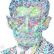 Franz Kafka Watercolor Portrait.1 Print by Fabrizio Cassetta