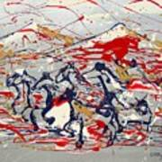 Freedom On The Open Range Print by J R Seymour