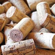French Wine Corks Print by Georgia Fowler