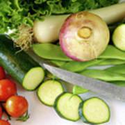 Fresh Vegetables Print by Carlos Caetano