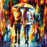 Friends Under The Rain Print by Leonid Afremov