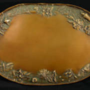 From The Foothills Bronze Tray Print by Dawn Senior-Trask