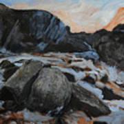 Frozen Waterfall Print by Harry Robertson