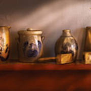 Furniture - Shelf - Family Heirlooms  Print by Mike Savad
