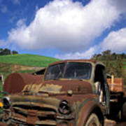Garrod's Old Truck Print by Kathy Yates