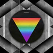 Geometric Pride Print by Sue Gardiner