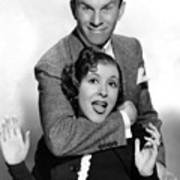 George Burns And Gracie Allen, 1936 Print by Everett