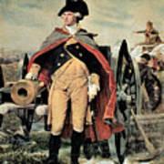 George Washington At Dorchester Heights Print by Emanuel Gottlieb Leutze