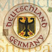 German Coat Of Arms Print by Debbie DeWitt