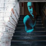 Ghost Of Pain - Self Portrait Print by Jaeda DeWalt
