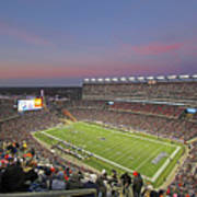 Gillette Stadium In Foxboro  Print by Juergen Roth