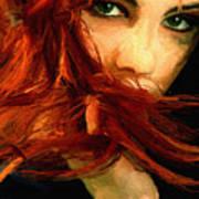Girl Portrait 08 Print by James Shepherd