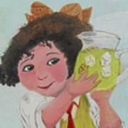 Girls With Lemonade Print by M Valeriano