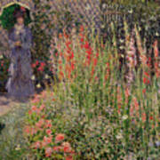 Gladioli Print by Claude Monet