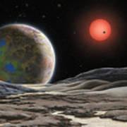 Gliese 581 C Print by Lynette Cook