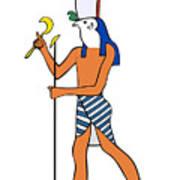 God Of Ancient Egypt - Horus Print by Michal Boubin