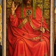 God The Father Print by Hubert and Jan Van Eyck