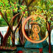 Golden Buddha Print by Art Nomad Sandra  Hansen