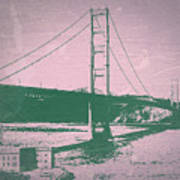 Golden Gate Bridge Print by Naxart Studio