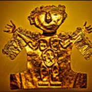 Golden Priest Statue Print by Alexandra Jordankova