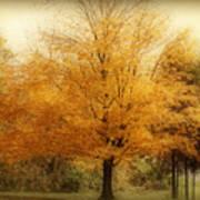 Golden Tree Print by Sandy Keeton