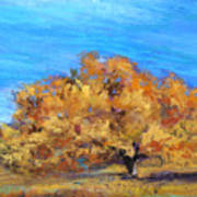 Golden Tree Print by Susan Jenkins