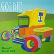 Goldie Model T Print by Evie Cook
