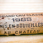 Grand Cru Classe Bordeaux Wine Cork Print by Frank Tschakert
