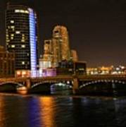 Grand Rapids Mi Under The Lights Print by Robert Pearson