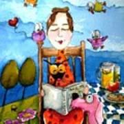 Grandma's Story Time Print by Lucia Stewart