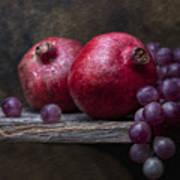Grapes With Pomegranates Print by Tom Mc Nemar