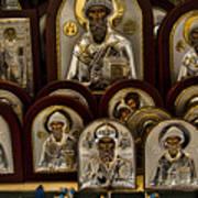 Greek Orthodox Church Icons Print by David Smith