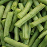 Green Beans Close-up Print by Carol Groenen