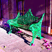 Green Bench By Michael Fitzpatrick Print by Mexicolors Art Photography