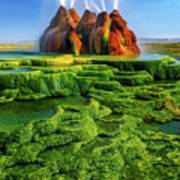 Green Fly Geyser Print by Inge Johnsson