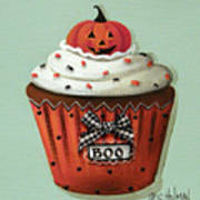 Halloween Pumpkin Cupcake Print by Catherine Holman