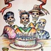 Happy Birthday Woman Skull Print by Heather Calderon