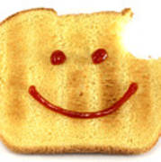 Happy Face And Bread Print by Blink Images