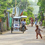 Happy Philippine Street Scene Print by James BO  Insogna