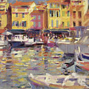 Harbor At Cassis Print by Peter Graham