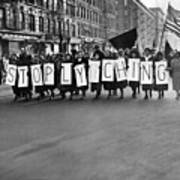 Harlem Protests The Scottsboro Verdict Print by Everett