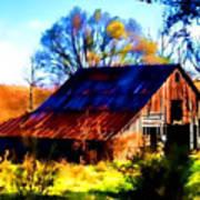 Harrison Barn Print by Kathy Tarochione