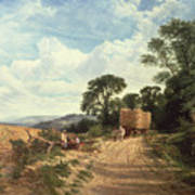 Harvest Time Print by George Vicat Cole