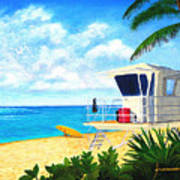 Hawaii North Shore Banzai Pipeline Print by Jerome Stumphauzer
