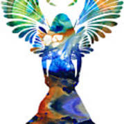 Healing Angel - Spiritual Art Painting Print by Sharon Cummings