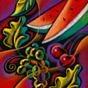 Healthy Fruit Print by Leon Zernitsky